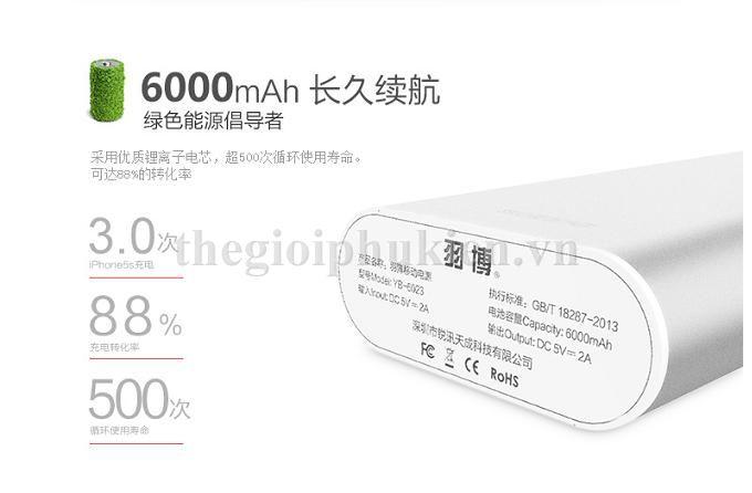 pin du phong yoobao 6000 s3 5