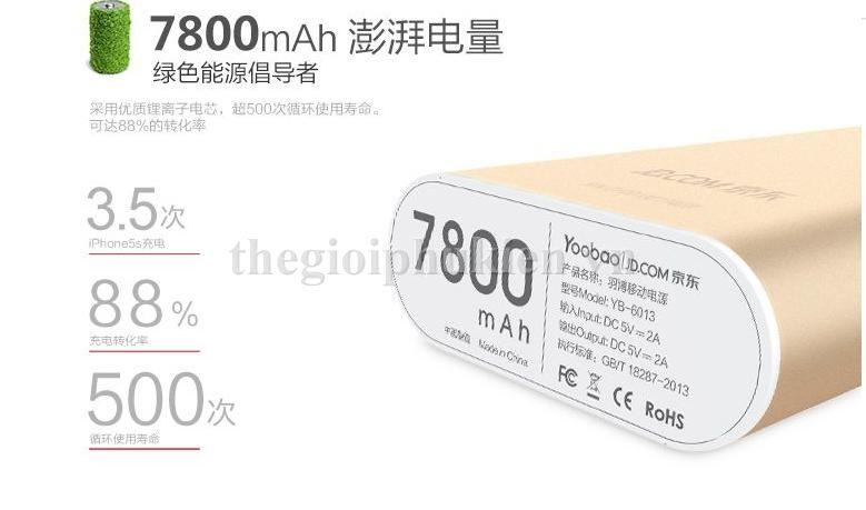 pin du phong yoobao 7800 m3 5